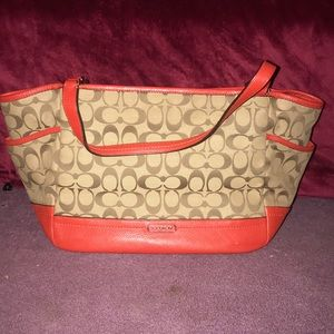 Signature Coach Pattern with Red Accent